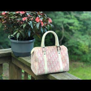 Dior Bags - 💯AUTH DIOR PINK TROTTER BOSTON BAG OBLIQUE LOGO